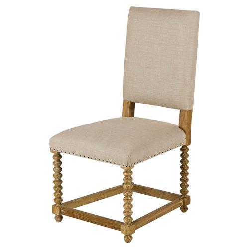 Maison 55 jordan modern classic beige linen wood dining side chair - Maison moderne diningchair ...