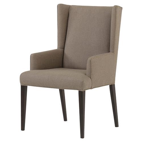 Maison 55 lawson modern classic linen upholstered wood dining arm chair - Maison moderne diningchair ...