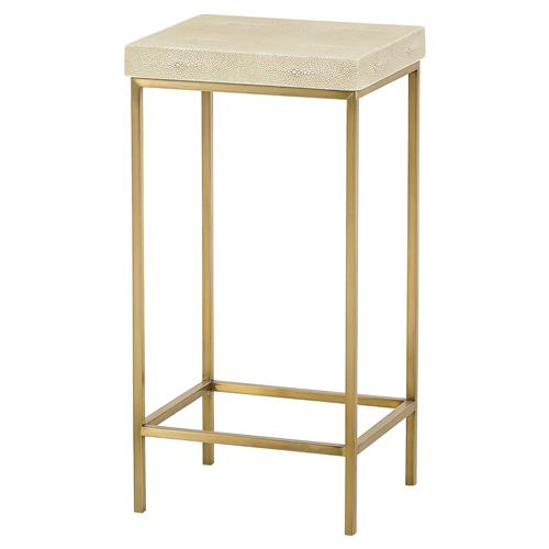 Maison 55 Mallory Modern Classic Shagreen Wood Metal Frame Side End Table | Kathy Kuo Home