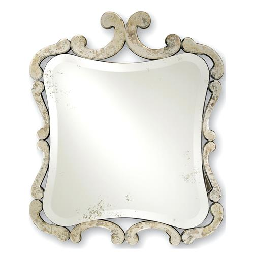 Contemporary French Style Antique Square Mirror | Kathy Kuo Home
