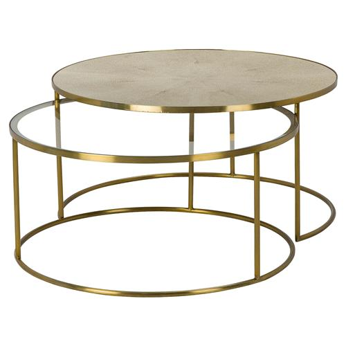 Maison 55 Ringo Modern Classic Round Gold Metal Bunching Round Coffee Table 31 W 40 W Kathy Kuo Home