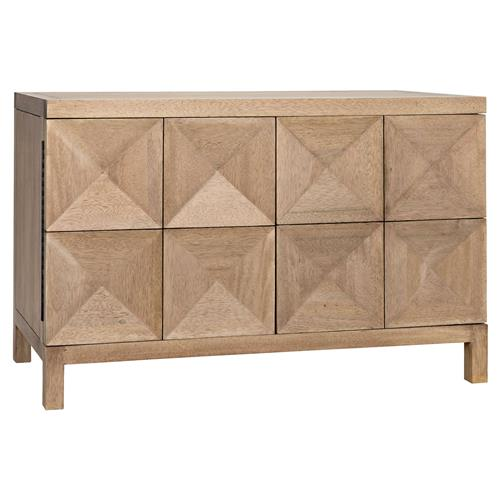 Noir Quadrant Modern Classic Washed Walnut Diamond 2 Door Sideboard | Kathy Kuo Home