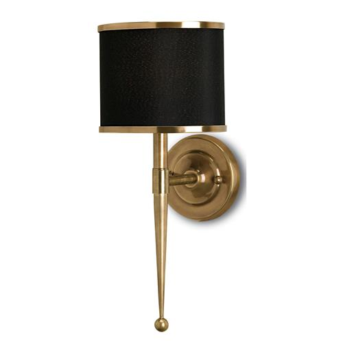 Primo Hollywood Regency Modern Brass Black Wall Sconce | Kathy Kuo Home