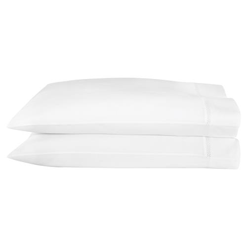 Peacock Alley Modern Cadence Pillow Case - White Standard | Kathy Kuo Home