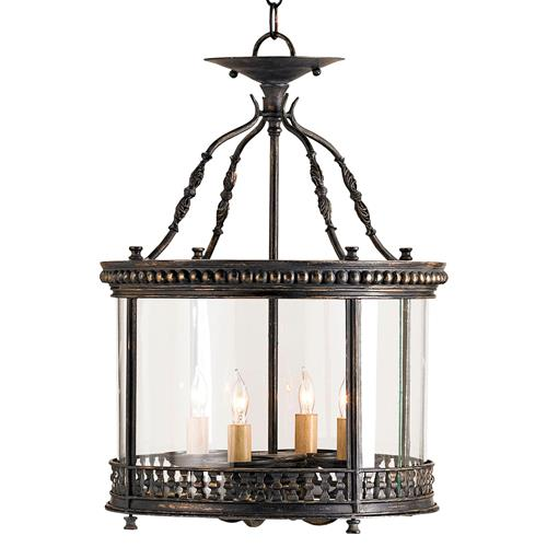 Gardner Wrought Iron French Country Ceiling Lantern Pendant Lamp | Kathy Kuo Home