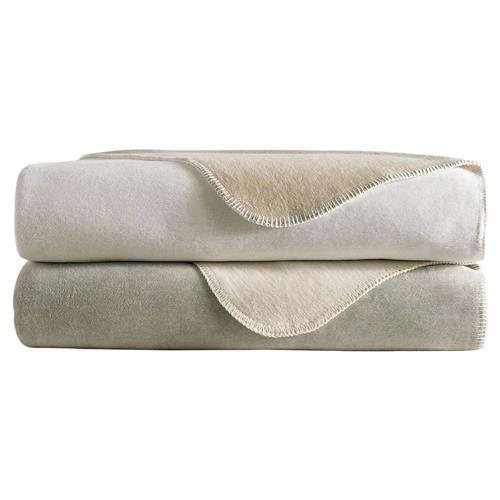 Peacock Alley Modern Alta Cotton Blanket - White Twin | Kathy Kuo Home