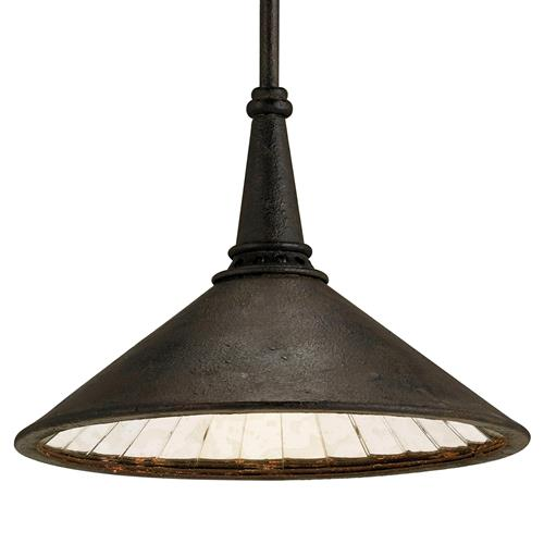 Hailey Industrial Loft Black Metal Pendant | Kathy Kuo Home