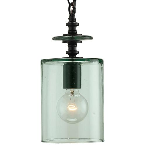 Panorama Recycled Green Glass Contemporary Pendant Lamp | Kathy Kuo Home