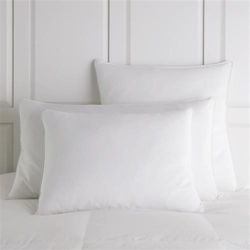 Peacock Alley Modern Down Alternative Pillow - White Standard Medium | Kathy Kuo Home