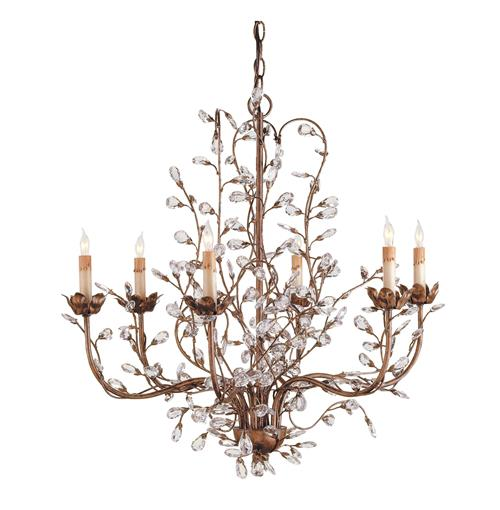 Enchanted Forest Crystal Bud 6 Light Chandelier | Kathy Kuo Home