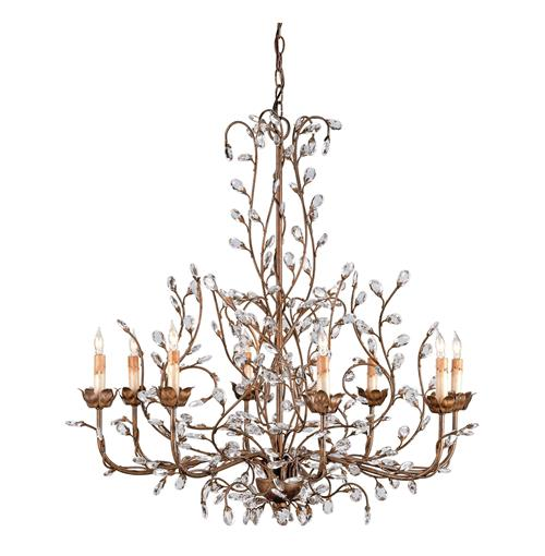 Enchanted Forest Crystal Bud 8 Light Chandelier Kathy