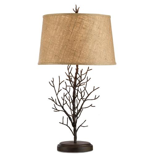 Winterfall Rustic Lodge Iron Twig Branch Lamp- 31 Inch | Kathy Kuo Home