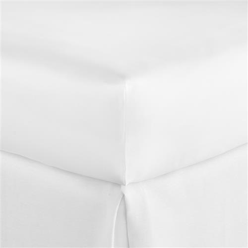 Peacock Alley Modern Lyric Cotton Percale Fitted Sheet - White Queen | Kathy Kuo Home