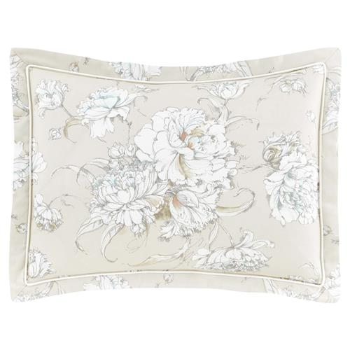 Peacock Alley Modern Flora Printed Sham - Platinum Standard | Kathy Kuo Home