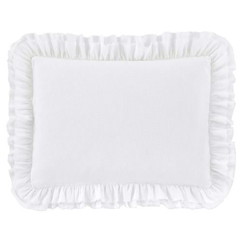 Peacock Alley Modern Penelope Ruffled Sham - White Standard | Kathy Kuo Home