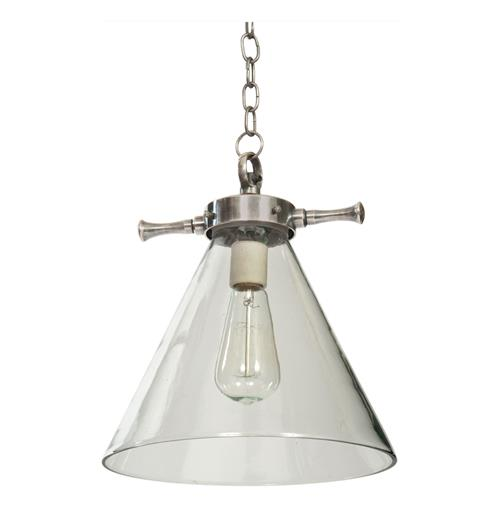 Waltham Industrial Loft Steel Glass Pendant Light | Kathy Kuo Home