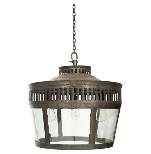 "Lafayette Industrial Warehouse Old Steel 22"" Pendant Fixture 