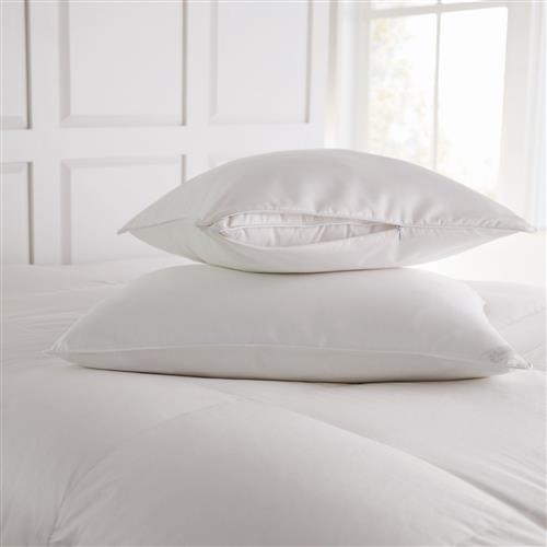 Peacock Alley Modern White Pillow Protector - Standard | Kathy Kuo Home