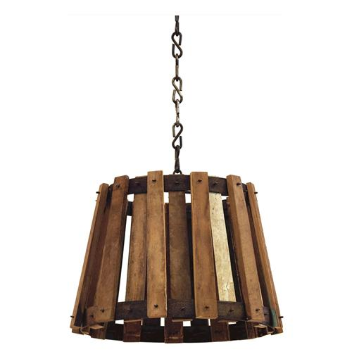 Vintage Barrel Crate Old Wood Pendant Lamp | Kathy Kuo Home