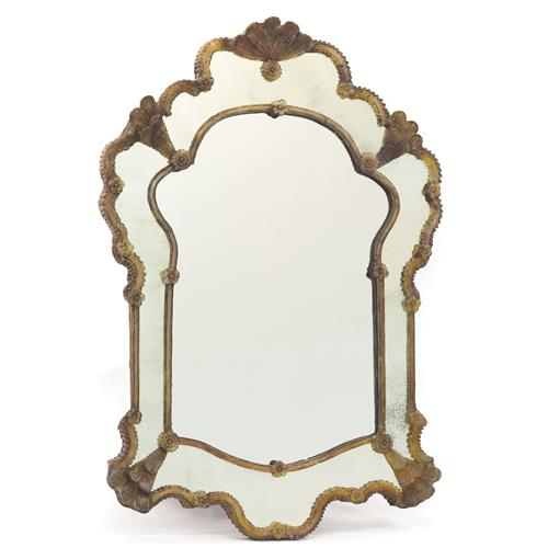 Elodie Antique Gold French Country Wall Mirror | Kathy Kuo Home