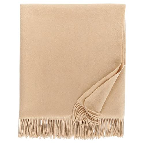 Sferra Modern Dorsey Throw - Almond | Kathy Kuo Home