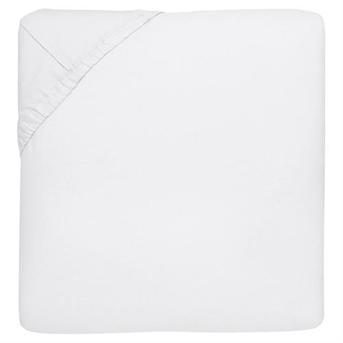 Sferra Modern Giza 45 Percale Fitted Sheet - White Queen | Kathy Kuo Home