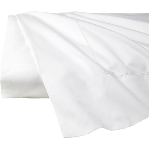 Sferra Modern Giza 45 Percale Flat Sheet - White Queen | Kathy Kuo Home