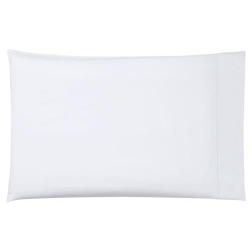 Sferra Modern Giza 45 White Standard Percale Pillowcases - Set Of 2 | Kathy Kuo Home