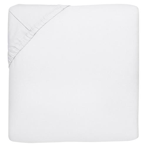Sferra Modern Sereno Fitted Sheet - White Queen | Kathy Kuo Home