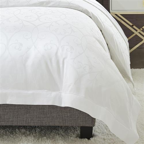 Sferra Modern Somina Duvet Cover - White Queen | Kathy Kuo Home