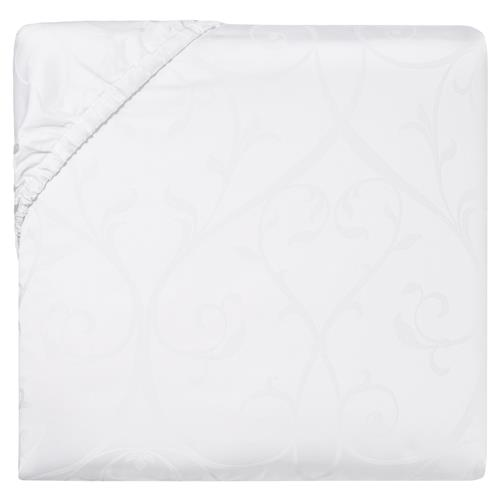 Sferra Modern Somina Fitted Sheet - White Queen | Kathy Kuo Home