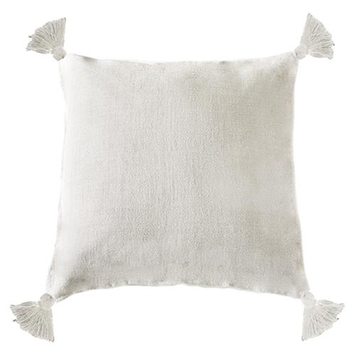 Pom Pom French Country Montauk Pillow - Cream | Kathy Kuo Home
