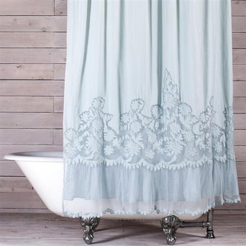Pom Pom French Country Caprice Shower Curtain