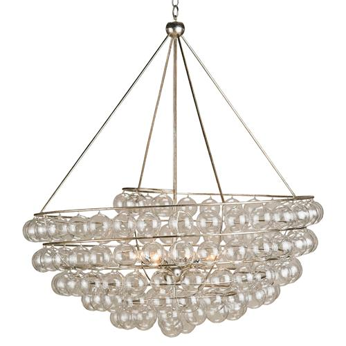 Modern Glass Bauble Round 4 Light Chandelier | Kathy Kuo Home