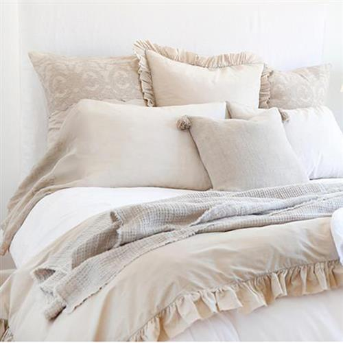 Pom Pom French Country Madison Duvet Set - Taupe Queen | Kathy Kuo Home