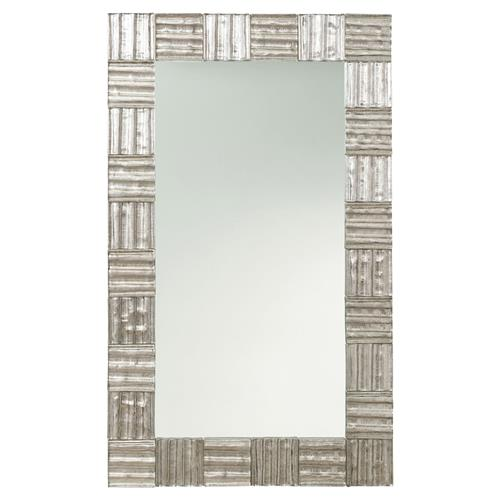 Arteriors Isabel Industrial Loft Antique Silver Rectangle Mirror | Kathy Kuo Home