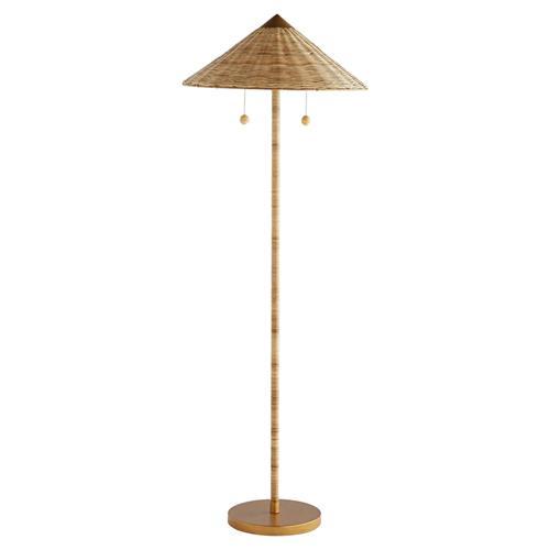 Natural Handwoven Rattan Floor Lamp