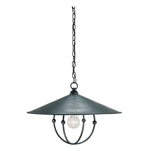 Wide Brim Black Metal Lid Single Industrial Light Pendant | Kathy Kuo Home