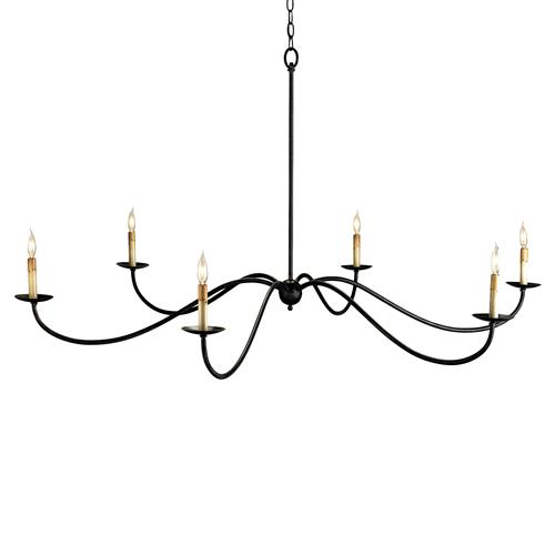 63 Inch Round Delicate Black Metal 6 Light Grand Chandelier | Kathy Kuo Home