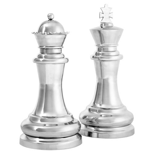 Eichholtz Industrial Loft Chess King and Queen Decorative Sculptures | Kathy Kuo Home