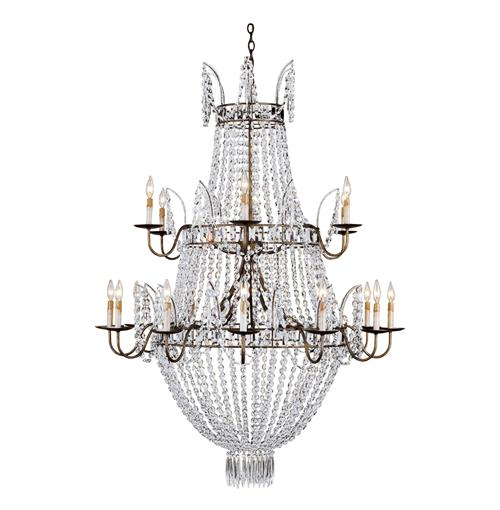 Kingsport Grand Triple Tiered 18 Light Crystal Chandelier | Kathy Kuo Home