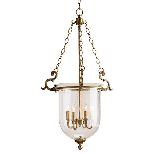 Fairfield Classic Hanging Glass Dome 4 Light Lantern Pendant | Kathy Kuo Home