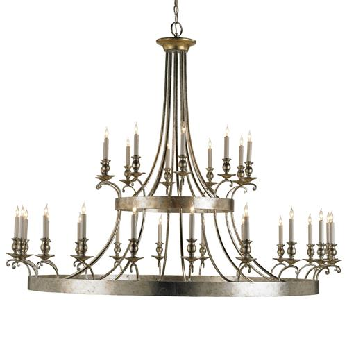 Fairmont Contemporary Silver 30 Light Chandelier | Kathy Kuo Home