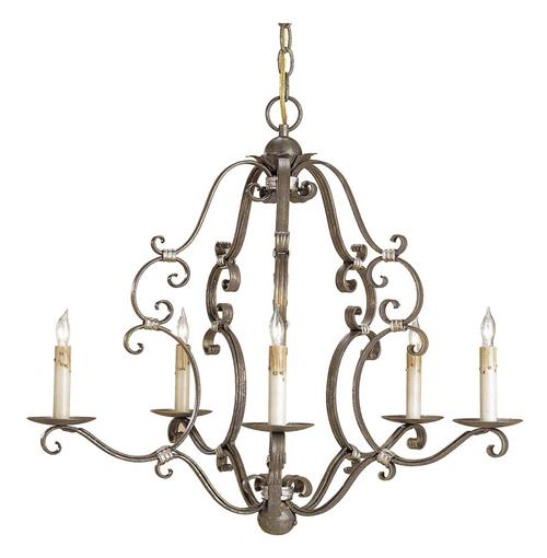 Ambert Traditional Scrolled Iron 5 Light Chandelier | Kathy Kuo Home