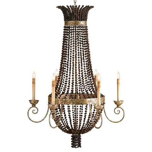 Palmyra Grand Beaded Bowl 6 Light Chandelier | Kathy Kuo Home