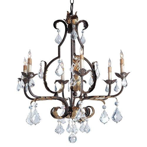 Firenze Italianate Bold Faceted Crystal 6 Light Chandelier | Kathy Kuo Home