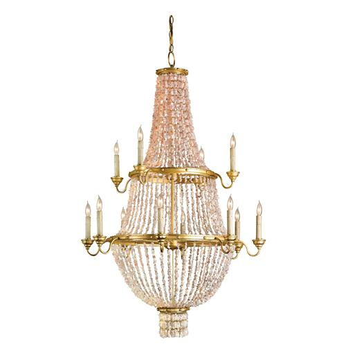 Lou Lou Opera House Gold Leaf 12 Light Crystal Chandelier | Kathy Kuo Home
