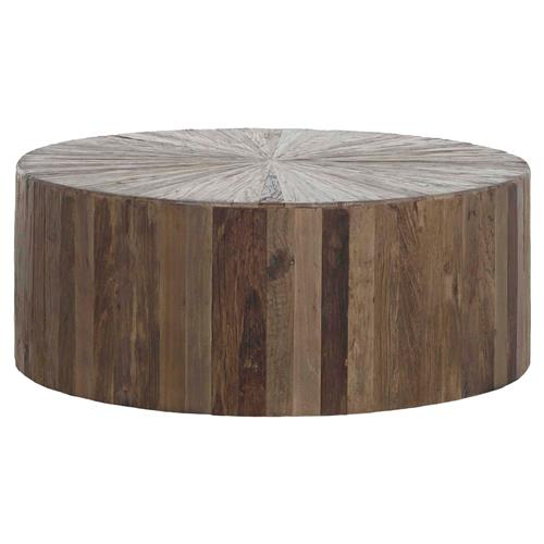 Cyrano Reclaimed Wood Round Drum Modern