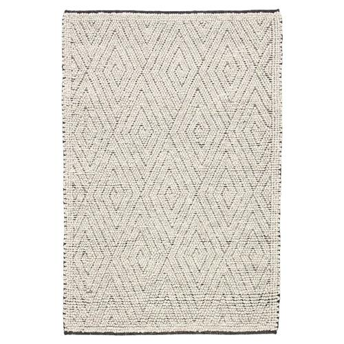 Louis Modern Grey Wool Geometric Pattern Rug - 5' x 8' | Kathy Kuo Home