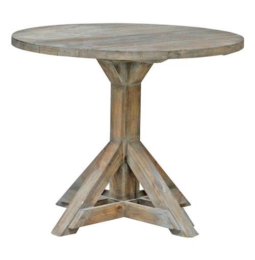 James Vintage Dining Wine Barrel Table Reproduction 36 D Kathy Kuo Home